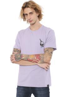 Camiseta Hd Skull Lilás