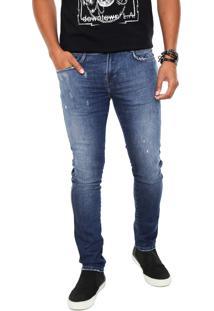 Calça Jeans Replay Skinny Anbass Azul