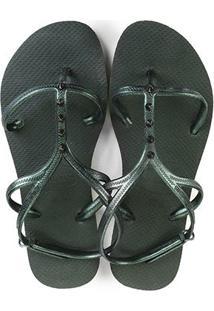 best sneakers af40e 1a816 Chinelo Havaianas Feminino Verde Conforto Allure Fc - Maxi Feminino-Verde  Sandália
