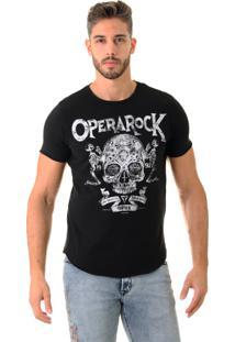 Camiseta Opera Rock Skull Blessed Preta