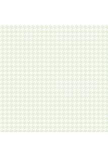 Papel De Parede Lymdecor Coleção Infantário Pied-Poule 1735 Bobinex Verde