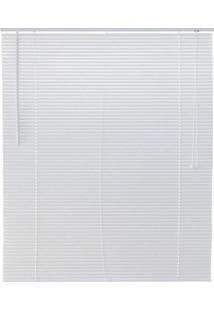 Persiana Horizontal Pvc Top Flex 1,60X1,60M 25Mm Branca