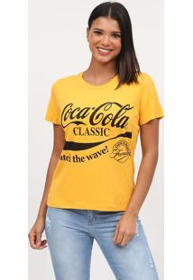 Camiseta Coca-Colaâ® Classic- Amarela & Preta- Coca-Ccoca-Cola