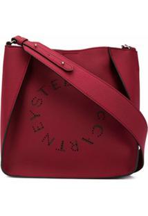 Stella Mccartney Bolsa Tiracolo Com Detalhe De Logo - Vermelho