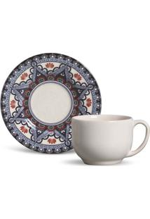 Xícara De Chá Mônaco Constantinopla Cerâmica 6 Peças Porto Brasil