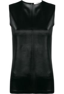 Givenchy Blusa De Couro Sintético - Preto