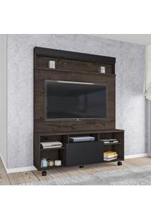 Home Para Tv Até 55 Pol Atualle 2285R Calama Flex Rústico/Preto