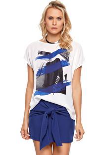 Blusa Modischt-Shirt Silk Woman Off White