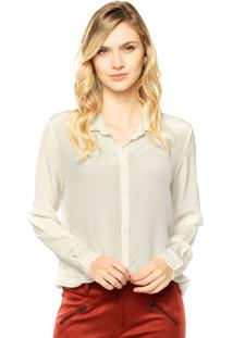 Camisa Seda Canal Reta Off-White