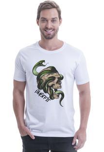 Camiseta Longline Blast Fit Branco Cobra