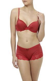 Conjunto De Lingerie Sex Model Vermelho