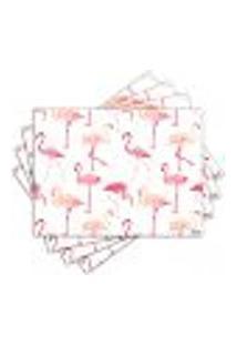 Jogo Americano - Flamingos Com 4 Peças - 1004Jo