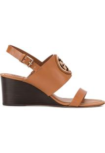 Tory Burch Sapato Anabela Miller - Marrom