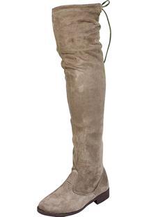 e201a8cae ... Bota Over Knee Lu Fashion Cinza Claro