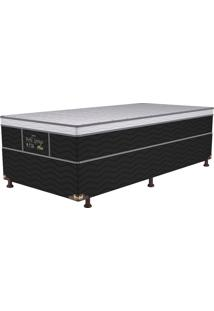 Cama Box Solteiro Springs Plus - Probel - Branco / Prata / Preto