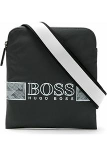 Boss Shoulder Bag Com Logo - Preto