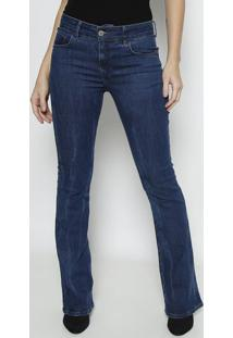 Jeans Boot Cut Liso- Azul Escuro- Forumforum