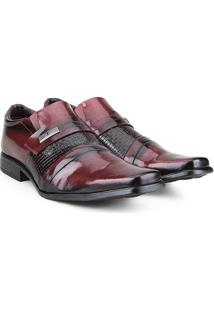 Sapato Social Walkabout Masculino - Masculino-Bordô