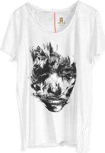 Camiseta Masculina Joss Corte A Fio Disturbia Branco