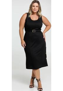 Vestido Feminino Midi Plus Size