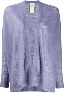 Alysi Cardigan Semi-Translúcido Com Abertura Frontal - Roxo
