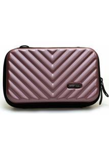Mini Bag Bolsa Tictactoo Transversal Pochete Feminina - Feminino-Rosa