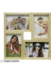 Painel Para 4 Fotos- Bege- 29,5X29,5X6Cmkapos