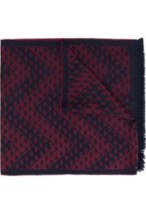 Emporio Armani Cachecol Com Logo Bordado - Vermelho