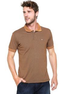 Camisa Polo Dixie Mescla Marrom