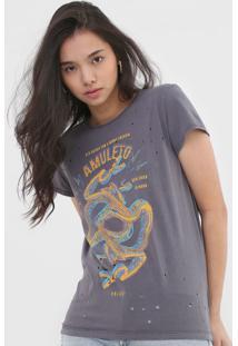 Camiseta Colcci Amuleto Grafite