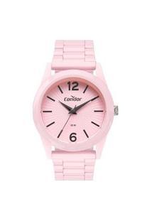 Relógio Condor Feminino Full Colors Rosa Analógico Co2035Mwe7T