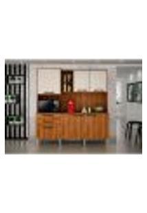 Cozinha Compacta Londres 6 Pt 2 Gv Nogal E Off White