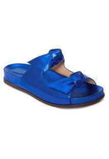 Sandália Feminina Clarita Slide Serenity - Azul