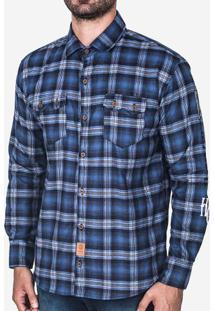 Camisa Xadrez Azul 200337