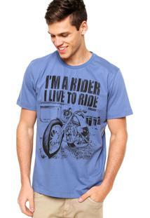 Camiseta Manga Curta Colcci Rider Azul