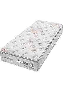 Colchão Solteiro Pillow Top Spring Up - Americanflex - Branco / Cinza