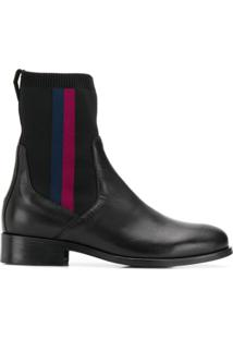 Tommy Hilfiger Leather Ankle Boots - Preto