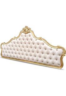 Cabeceira Clássica Em Folha De Ouro Tam Queen E King Com Tecidos Personalizados