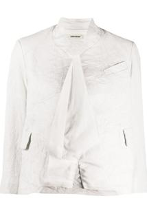 Zadig&Voltaire Blazer Cropped - Branco