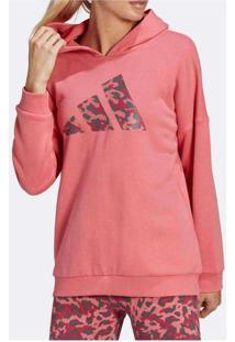 Blusão Adidas Oversize Sportwear Feminino Rosa