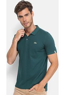 Camisa Polo Lacoste Live Piquet Masculina - Masculino-Verde