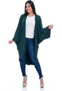Cardigan Kimono B'Bonnie Esther Verde Militar - Tricae