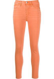Frame Calça Jeans Skinny Cintura Alta - Laranja
