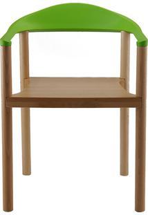 Cadeira P&W Plástico Pp E Madeira De Faia Verde Maça - Orb
