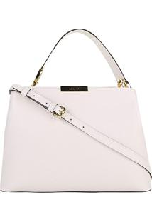 Bolsa Couro Luz Da Lua Handbag Média New Ridge Feminina - Feminino-Off White