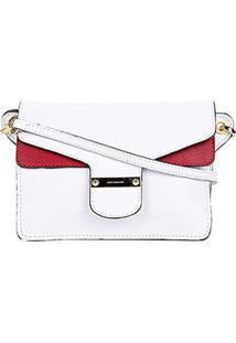 Bolsa Mini Bag Couro Luz Da Lua Feminina - Feminino-Vermelho