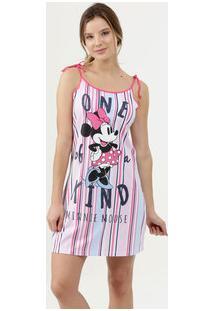 Camisola Feminina Estampa Minnie Alças Finas Disney