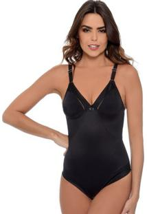 Body Modelador Liso Feminino Em Microfibra