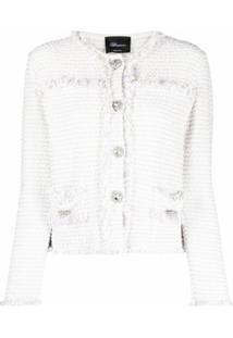Blumarine Jaqueta De Tweed - Branco