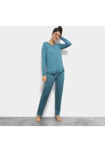 Pijama Lupo Longo Renda Feminino - Feminino
